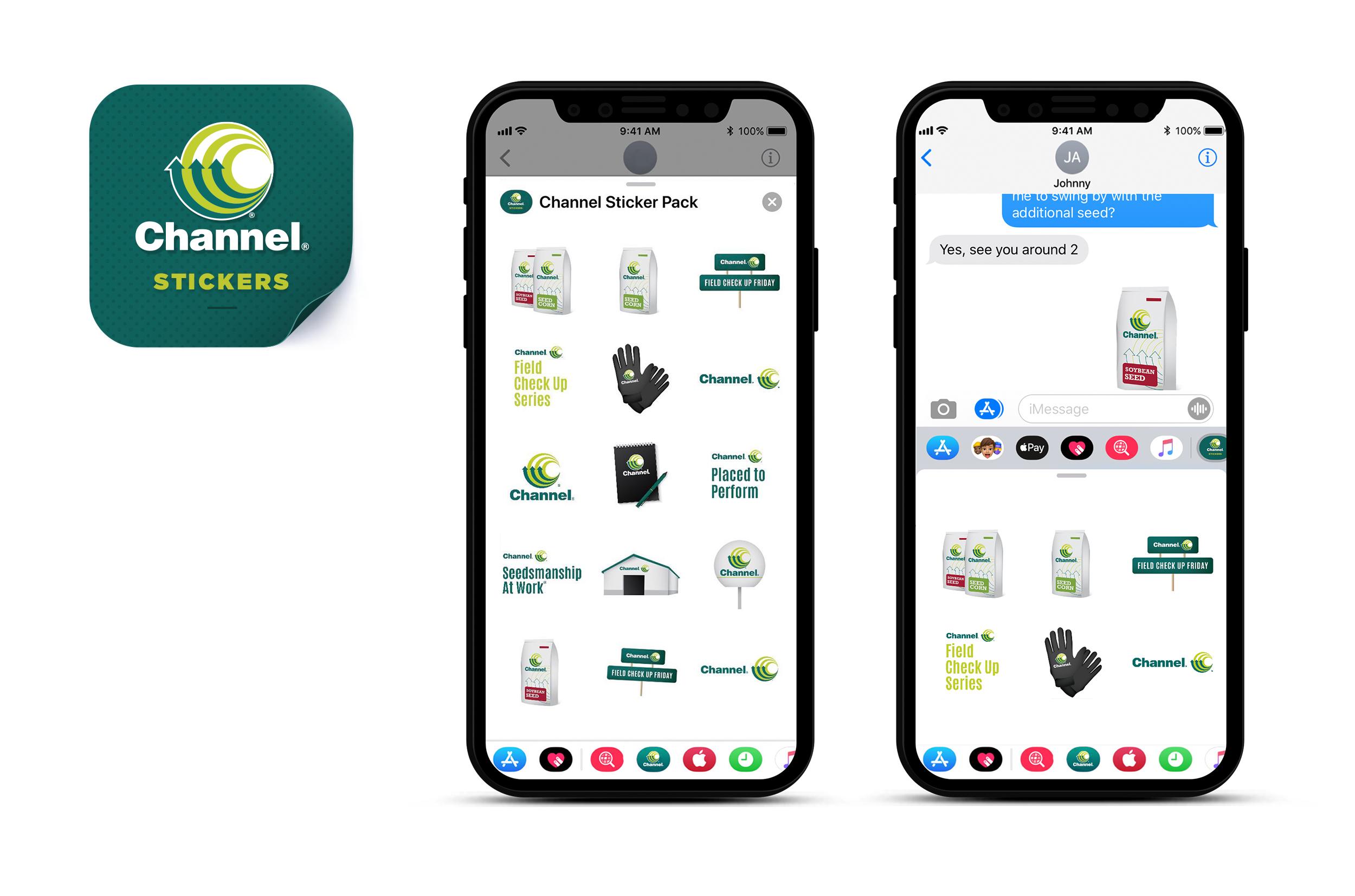 Channel Sticker App