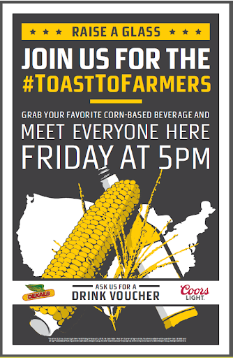 Toast to Farmers Poster